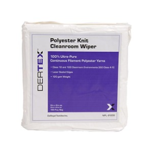 Dertex 100% Polyester Cleanroom Wipers