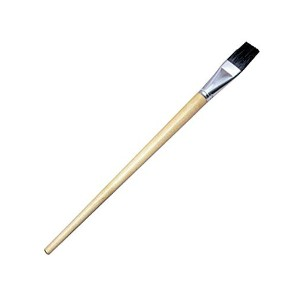 Flat Black Bristle Artist Brushes